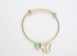 """Vergoldeter Armreif """"Tender Butterfly"""""""