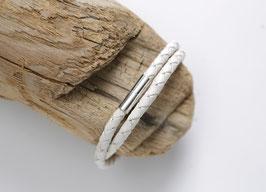 Männerarmband Weiß/Silberfarben