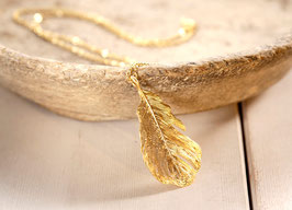 "Kette ""Golden Feather"""