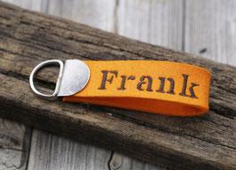 """Kleiner Schlüsselanhänger mit Wunschbestickung """"Frank"""""""