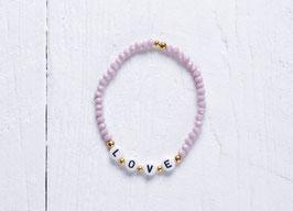 "Buchstabenarmband, personalisiertes Armband ""Love"""