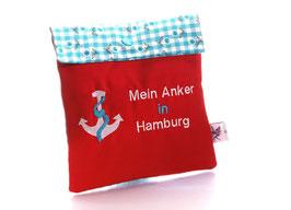"""Trostkissen """"Mein Anker in Hamburg"""" 1"""