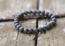Holzperlen Herrenarmband (Stonewashed Grau)