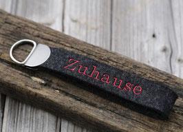 "Schlüsselanhänger ""Zuhause (rot)"""