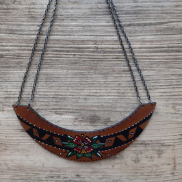"Le collier ""Leather old school"" (C1)"
