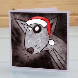 'Dog' English Bull Terrier Christmas Greeting Card