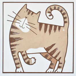 'Catachino' Tabby Cat Art Print