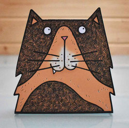 Pop-Up 3D Cat Creature Greeting Card