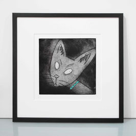 'I Am Siamese' Siamese Cat Etching Print