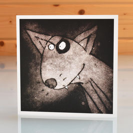 'Dog' English Bull Terrier Blank Inside Greeting Card