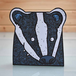 Pop-Up 3D Badger Creature Greeting Card