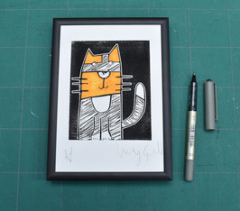 'Little Tortie - Tallulah' Pocket Puss Print