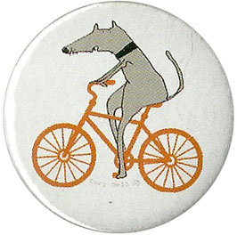 Dog On A Bike Badge