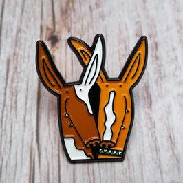 'Podenco' dog pin badge
