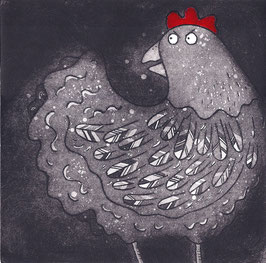 'Cluck' Chicken Magnet