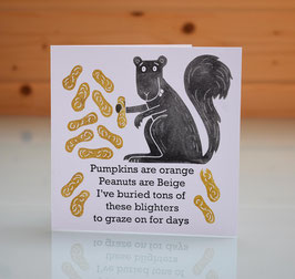 'Pumpkins Are Orange' I Love You / Valentine Handprinted Card