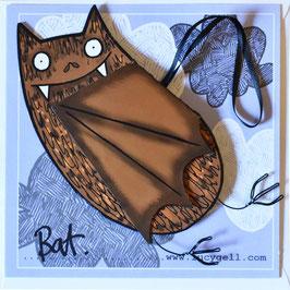 Pop-Up 3D Hanging Bat Greeting Card