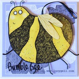 Pop-Up 3D Hanging Bumble Bee Greeting Card