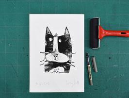 'Street Cat' Original Monoprint