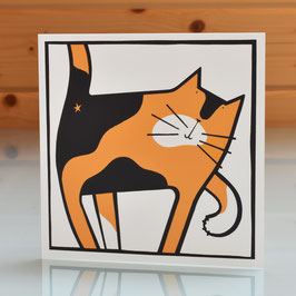 'Cat Scratch' Cat Blank Inside Greeting Card