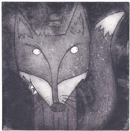 'Mr Fox' Fox Etching Print