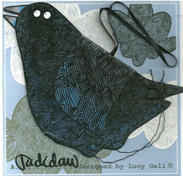 Pop-Up 3D Hanging Jackdaw Bird Greeting Card