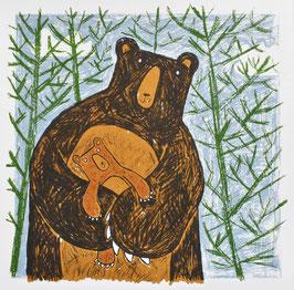 '123 Huggy Bear' Bear Screen Print