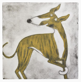 'Nancy' Brindle Whippet Print (Colour)