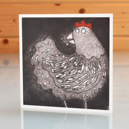 'Cluck' Chicken Blank Inside Greeting Card