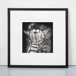 'Cat' Etching Print