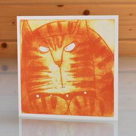 'Ginger Cat' Blank Inside Greeting Card
