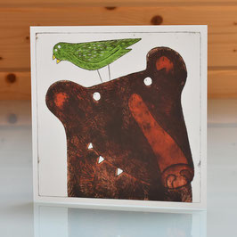 'To Bear It All' Blank Inside Greeting Card