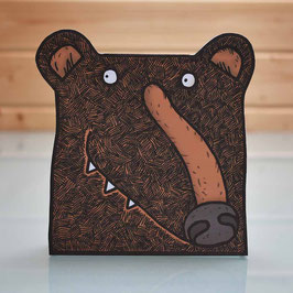 Pop-Up 3D Bear Creature Greeting Card