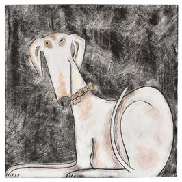 'Lurcher' Art Print