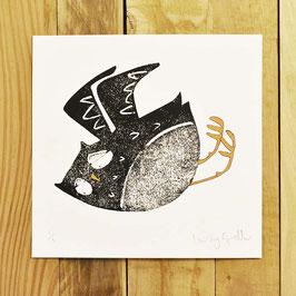 'In Flight Owl 2' Original Monoprint