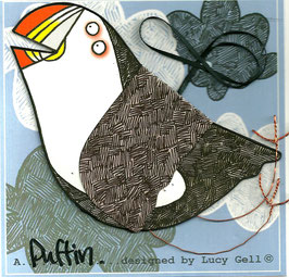 Pop-Up 3D Hanging Puffin Bird Greeting Card