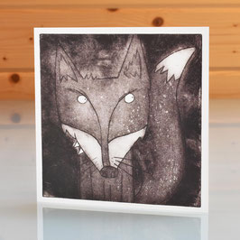 'Mr Fox' Blank Inside Greeting Card