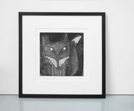 'Mr Fox' Fox Etching Print