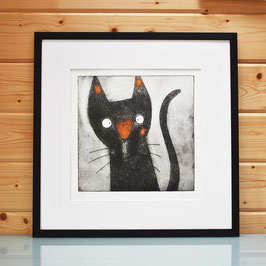'Tilda' Tortoiseshell Cat Etching Print