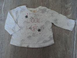 2293 LA Shirt weiß graue punkte und Sterne mit rot LOOK Up von ZARA Gr. 62
