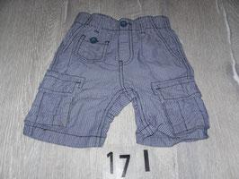 171 Shorts blau weiß gestreift Gr. 80