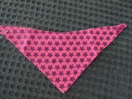 F-160 Handmade Halstuch beere pink mit Sterne beidseitig tragbar mit Kamsnaps
