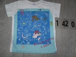 1420 Shirt Hunde im Pool Gr. 80