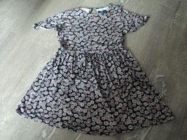 1002 Sommerkleid schwarz mit Blumen weiß rosa von TOM TAILOR Gr. 116/122