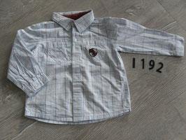 1192 Hemd karriert grau Gr. 92
