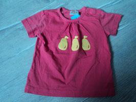 2993 Shirt in korallfarbend mit gelben Glitzer Birnen von PAPAGINO Gr.  74/80