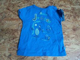 AL-34 Shirt blau mit Dinos Little Jokers von BOB DER BÄR Gr. 74