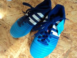 203 Fussballschuhe blau von ADIDAS Gr. 30
