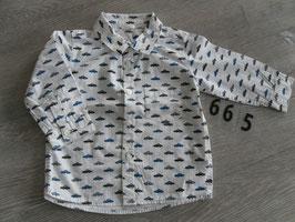 665 Hemd mit Autos von H&M Gr. 74