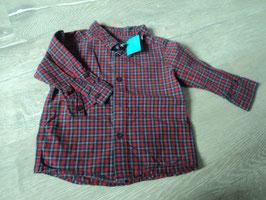 2955 rot blau karriertes Hemd von H&M Gr. 74